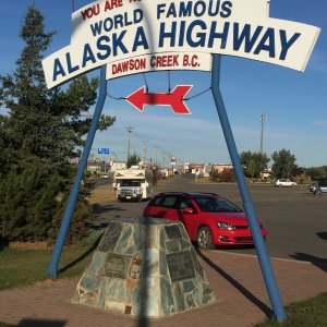 Milepost Zero of the Alaska Highway