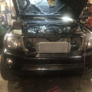 Intercooler mounted