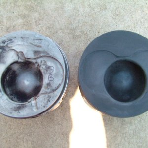 AHU piston before and after