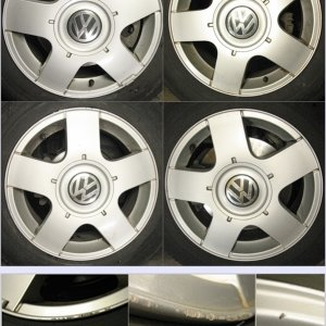 "Set of 4 15"" VW OEM Avus Wheels"