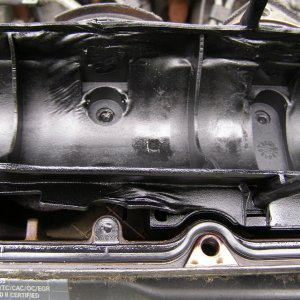 melted valve cover plastic