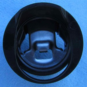 Front view of 2013 Jetta misfuel adapter