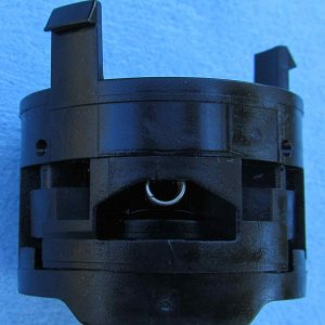 Top view of 2013 Jetta misfuel adapter