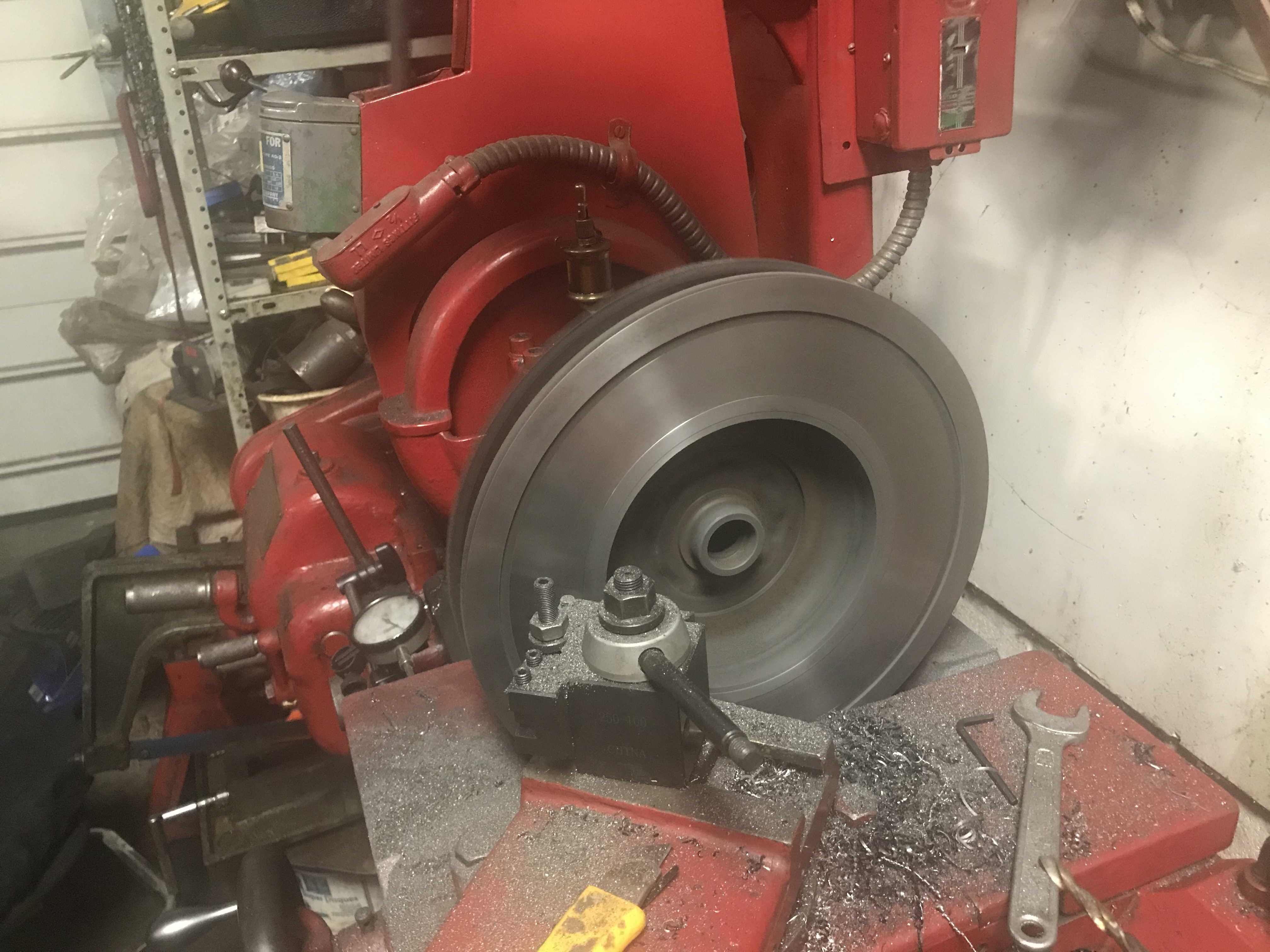 Machining the flywheel
